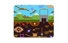 Mine Crafting 8 Bit Graphics Mouse Mat Pad - Gamer Teen Fun Computer Gift #14668