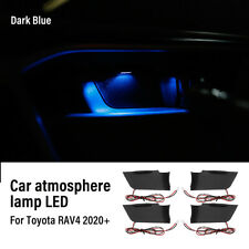 Blue Door Bowl Handle Ambient Atmosphere Light Interior LED For Toyota RAV4 2020