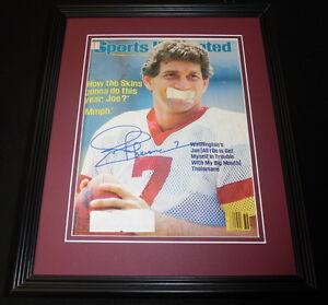 Joe Theismann Signed Framed 1984 Sports Illustrated Magazine Cover Washington B