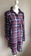 Papaya ladies plaid long sleeve shirt blouse top size 14 real fit 10