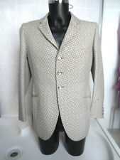 AWESOME VINTAGE 1960s ITALIAN GEOMETRIC MOD BEAT 3 BUTTON JACKET PSYCHEDELIC MED