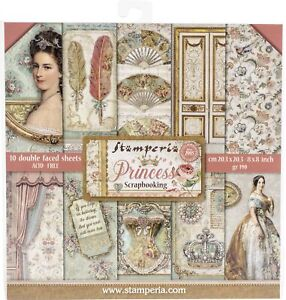 """Stamperia Double-Sided Paper Pad 8""""X8"""" 10/Pkg-Princess, 10 Designs/1 Each"""
