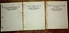New Holland Ford 240 300 361 391 134 172 256 Engine Service Manual 3 Manual Set