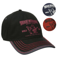 True Religion Men's TR1988 Buddha World Tour Graphic Cotton Baseball Cap