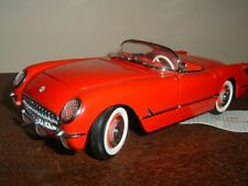 Franklin Mint 1954 Chevrolet Corvette Convt with New  Display Case 1:24 Red