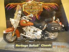2001 Hot Wheels Harley Davidson Motorcycle Brown Heritage Softail Classic