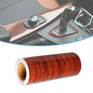 Glossy Simulation Wood Grain Vinyl Sticker Decal Car Interior Trim Accessories