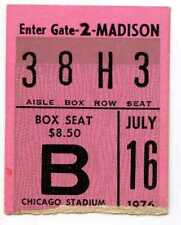 July 16 1976 Billy Joel & The Beach Boys Concert Ticket Stub Chicago Stadium Il
