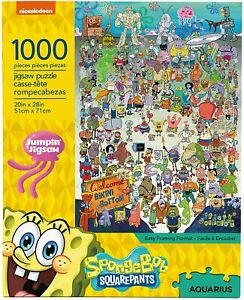Spongebob Squarepants Bikini Bottom 1000 pc jigsaw puzzle 690mm x 510mm