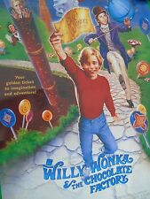 1996 Movie Poster Willy Wonka And The Chocolate Factory Warner Bross