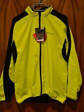 Nuckily Cycling Long Sleeve Jacket Thermal Reflective Neon Green Mens Size 3XL