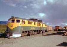 White Pass & Yukon Railroad (WP&YR) Engine 90 with freight cars  - 8x10 Photo