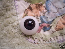 ~EyEcO EyEs PoLyGLaSs Eyes DaRk OriEnTaL 24MM~ REBORN DOLL SUPPLIES