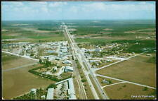 PRINCETON FL FLORIDA Vintage Aerial View Postcard