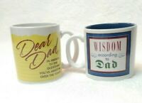 Wisdom According to Dad Gift 12 oz Coffee Mug Set of Two Fathers Day I Love Dad