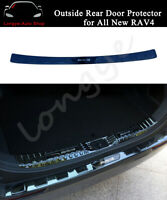 Outside Rear Door Plate Fits For All New RAV4 2020 Bumper Cover Sill Trim Scuff