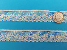 """French Heirloom Cotton Lace Edging--3/4"""" Wide Ivory Fashion/Craft/Doll Lace 892I"""