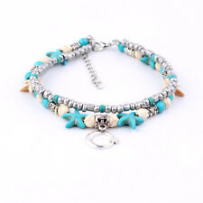 Starfish Shell Beach Foot Chain Conch Sandal Anklets Beads Bracelet Jewelry 15