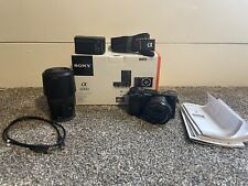 Sony Alpha A6000 24.3MP Camera - Black (Kit with 16-50mm & 55-210mm Zoom)