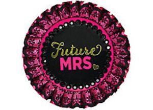 Bachelorette Party Sassy Bride Future Mrs. Deluxe Button 1 Pc