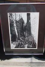 "Black White Print ""City Walls"" R Ehrlich 88/200 14x16 Vintage"