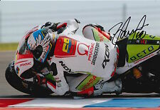 Yonny Hernandez Hand Signed Pramac Ducati 12x8 Photo 2015 MotoGP 11.