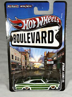 Hot Wheels '65 Chevy Impala Boulevard Big Hits #W4589 New NRFP 2011 Wht/Grn 1:64