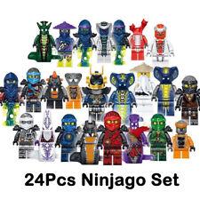 24 Stück Ninjago Mini Figur für Lego Kai Jay Bausteine Ziegel Spielzeug Geschenk