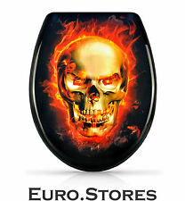 Venkon Burning Skull Premium Toilet Seat With Soft Close Best Gift Genuine New