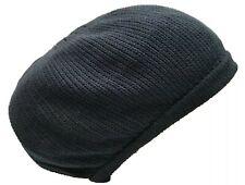 Navy Blue Beret Tam Hat Rasta Slouch Beanie Crochet Cap Dreadlocks Dreads M/L