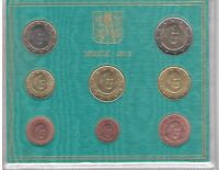 VATICAN 8 DIF UNC COINS SET 0.01 - 2 EURO 2013 YEAR POPE BENEDICT XVI MINT PACK