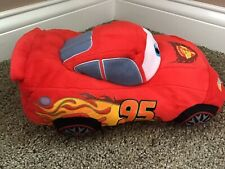 "Kohls Cares Disney Pixar Cars 12"" Lightning McQueen Plush Stuffed Car Doll EUC"