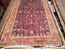 5x8 Afghan Carpet Rug Silk Wool Blend Oriental Pink & Purple Violet Pakistan New