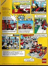 Publicité de Presse Lego Panique à Legoland  1986 french ad