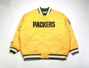VINTAGE 2008 REEBOK Men's Satin Jacket 5264H-223 GREEN BAY PACKERS