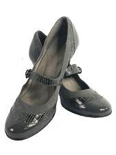 Aerosoles Women Dark Gray Mary Jane Heels Shoe Sz 11M  Career Work