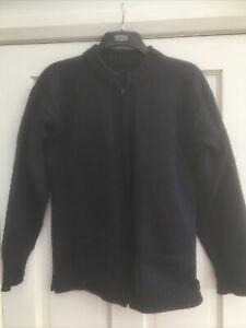 le tricoteur Geursey Zip Up Cardigan Blue