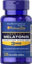 MELATONIN 3MG GIANT 120s SLEEP ANTI-AGING INSOMNIA-SAD FREE SHIPPING FROM UK