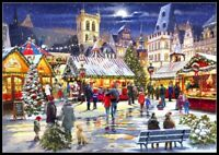 Christmas Market - Chart Counted Cross Stitch Patterns Needlework DIY 14 ct