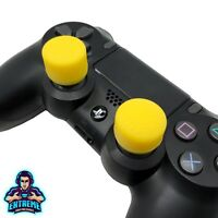 YELLOW Extenders Extreme Analog Thumb Stick Cover Grip Caps for PS4 Controller