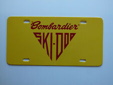 Vintage 60's Ski Doo Bombardier Snowmobile Logo Novelty License Plate