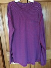 Mens Lululemon Size L Red and Blue Striped Shirt Euc
