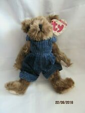 Ty Beanies - Attic Treasures Christopher Bear With Tag - Mint - Retired