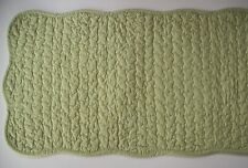 Solid Light Green Quilted Cotton Reversible Table Runner Great Finds SPEARMINT