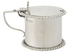 Victorian Sterling Silver Drum Mustard Pot London 1891