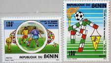 BENIN 1990 495-96 673-74 Soccer World Cup Italy Fußball WM Football MNH