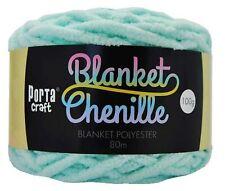 Chenille Blanket Yarn 100g 80m Solid Baby Blue