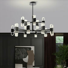 Large Chandelier Lighting Black Pendant Light Bar LED Ceiling Light Kitchen Lamp