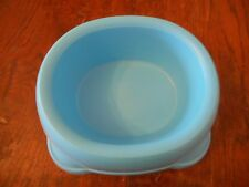 Pets At Home Blue Dog Plastic Non Slip Bowl Non Scratch Dish