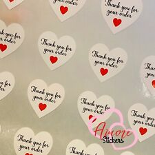 Thank you for your order small business/labels/stickers/postage/heart/cute